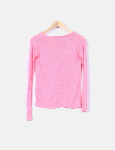 Jersey de punto rosa fluor