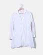 Vestido camisero blanco Uterqüe