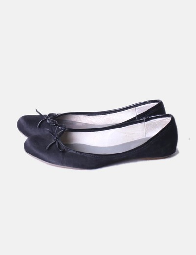 Bailarinas negras con lazada Pepe Jeans