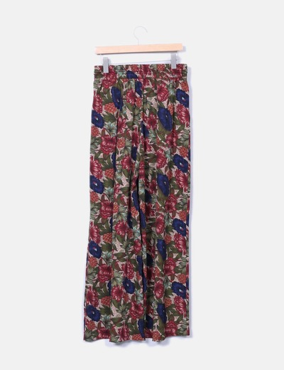 Pantalon palazzo floral