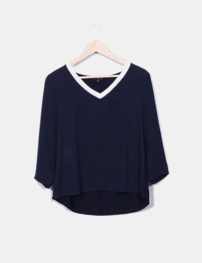 Blusa azul manga larga Trucco