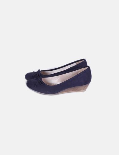 416c80b30c1 NoName Zapato azul marino con cuña (descuento 85%) - Micolet