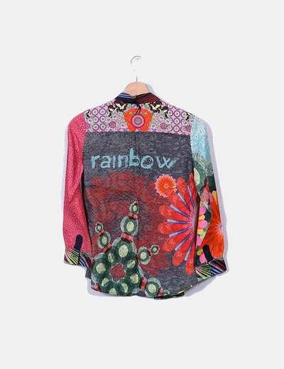 Camisa multicolor manga larga