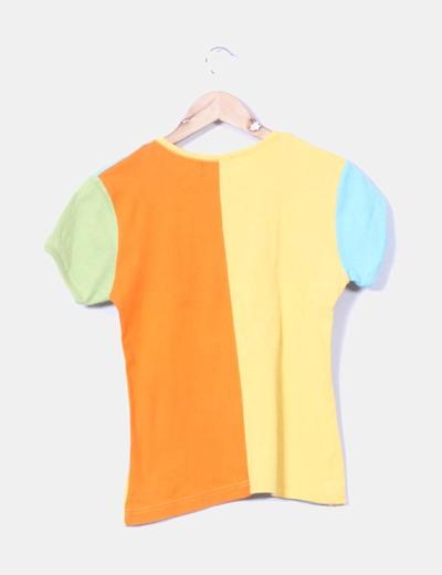 Top patchwork colores