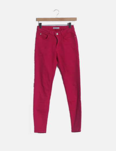 Jeans fucsias skinny fit