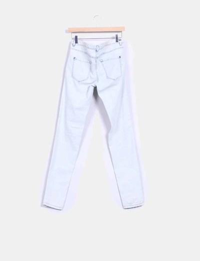 Pantalon claro efecto destenido