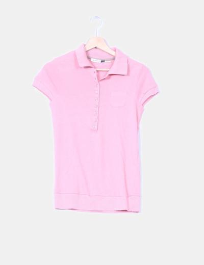 Polo tricot rosa