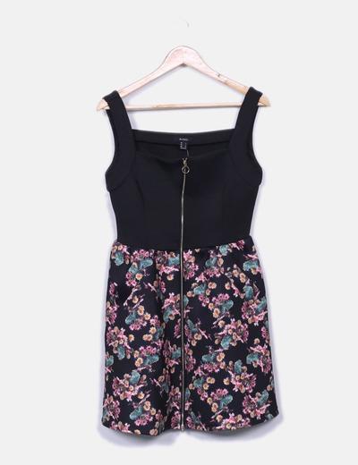 Vestido de neopreno floral