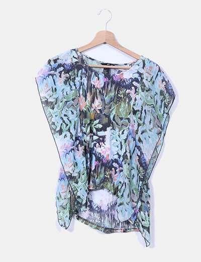 Blusa floral estampado multicolor H&M