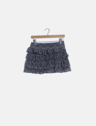 Falda mini volantes texturizada