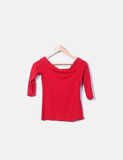 50-70% de descuento descuento de venta caliente bonito diseño Camiseta roja cuello bardot