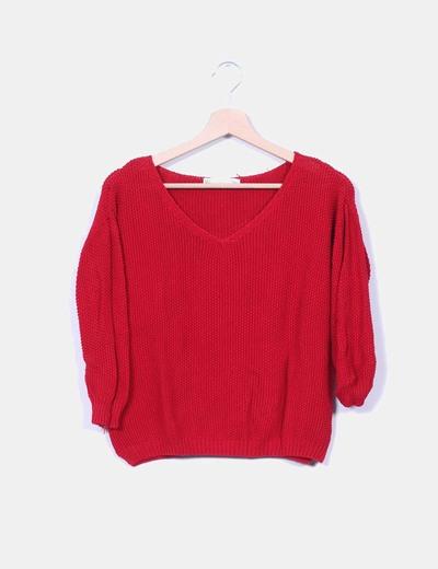 Jersey rojo troquelado manga francesa Sfera