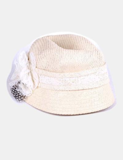 Sombrero rafia  con decoración Kling