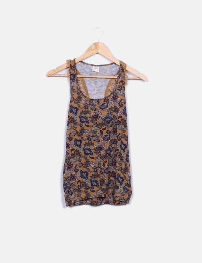 Camiseta estampada con encaje Pull&Bear