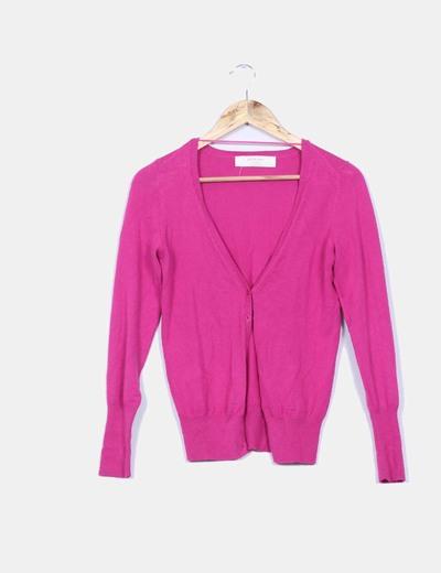 Cárdigan rosa fucsia Zara