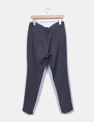Pantalon pitillo gris jaspeado