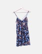 Vestido floral azul marino Zara