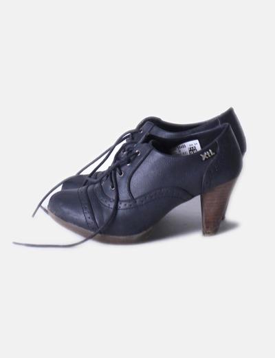 Zapato azul marino con cordones Xti