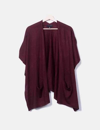 Poncho tricot burdeos Primark