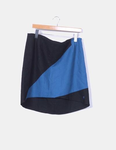 Falda de lana bicolor Skunkfunk