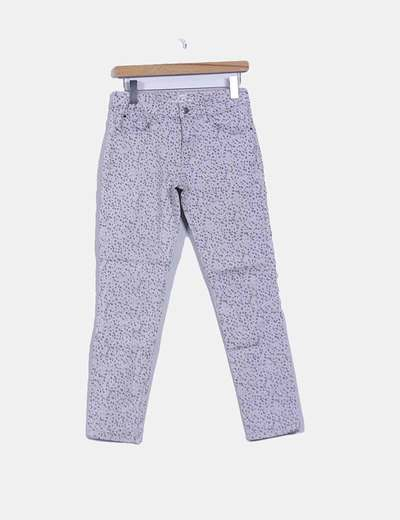 Pantalon gris à pois Esprit