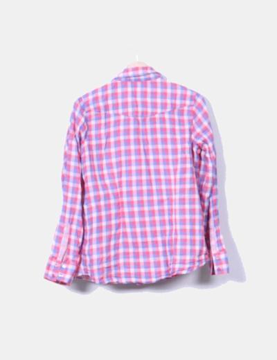 Camisa de cuadros rosas manga larga