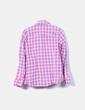 Camisa de cuadros rosas manga larga Roxy