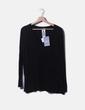 Jersey tricot negro con cuello pico Elena Miró