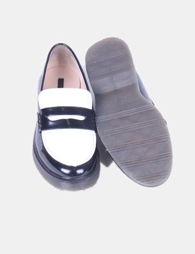 Mocasín Negrodescuento Y Blanco 64Micolet Zara Zapatos OikPXZwuT