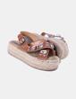 Sandales sparte de plate-forme avec strass Stradivarius
