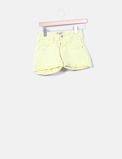 Short denim amarillo Pepe Jeans