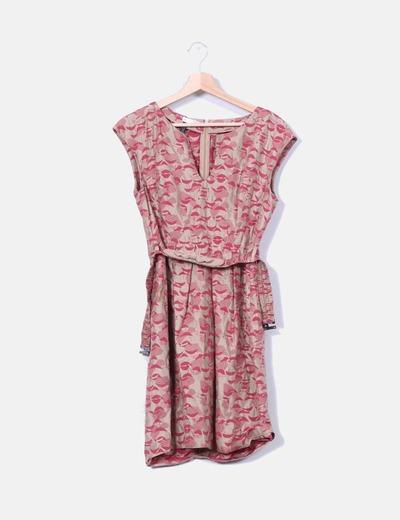 Robe deux couleurs en tissu imprimé Hoss Intropia
