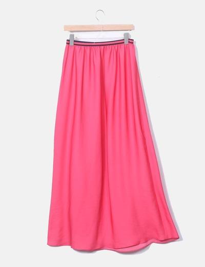 08fb56634 Maxi falda rosa fluida