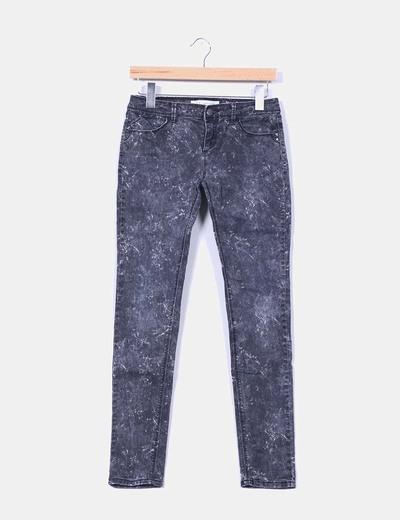 Pantalón denim gris efecto desgastado Clockhouse