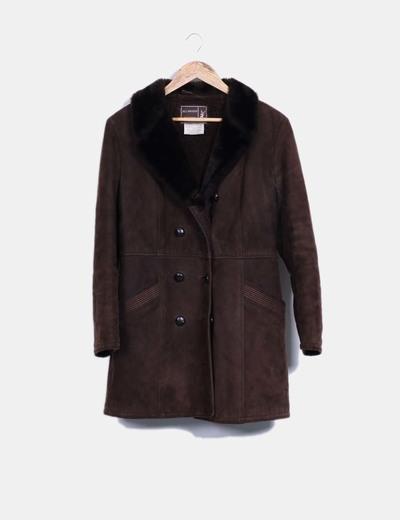 Abrigo marrón NoName