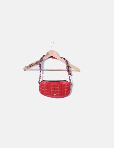 Mini bolso rojo acolchado Purificación García