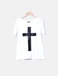 Camiseta blanca print cross Truly Madly Deeply
