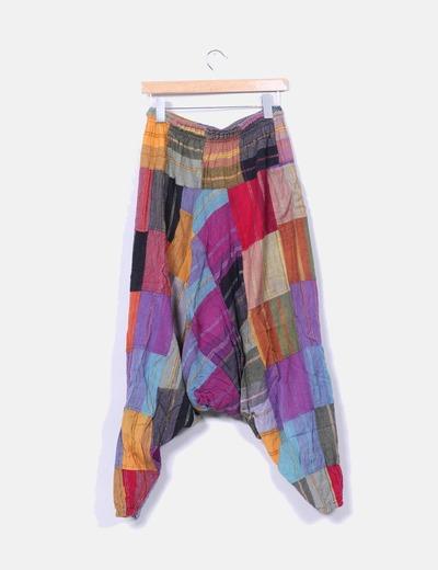 Pantalon harem multicolor