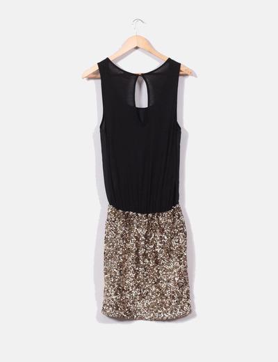 c262cbf79 ONLY Vestido negro falda lentejuelas (descuento 67%) - Micolet