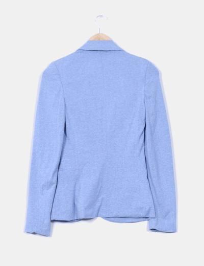 Blazer azul pastel