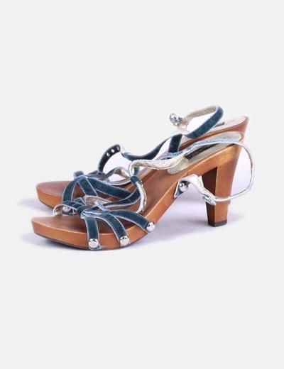 Sandales plate vertes -forme Bimba&Lola