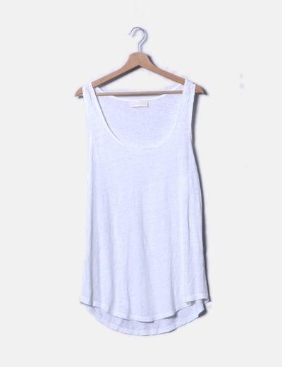 Camiseta blanca de tirantes Zara
