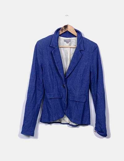 Blazer bleu Bershka