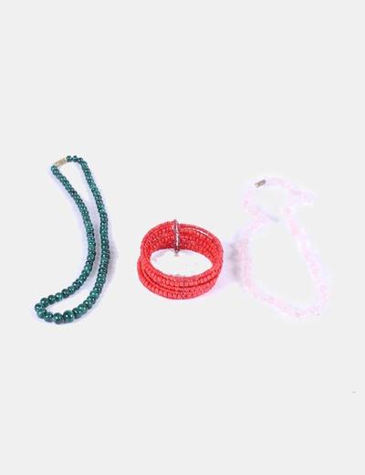 Conjunto de collar y pulsera de piedras  NoName