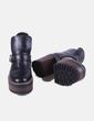 Botines negros tacón efecto madera Pull&Bear