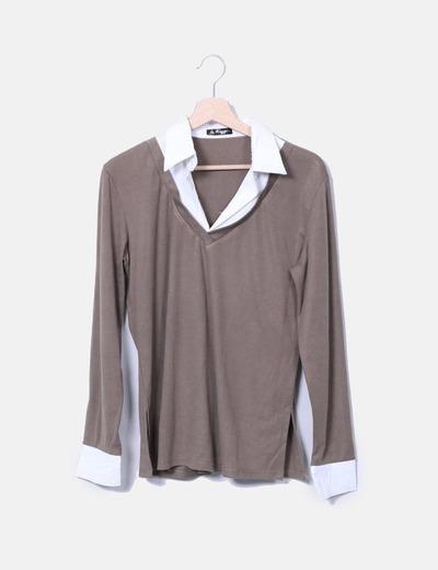 T-shirt marron NoName