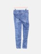 Legging blue denim wornout effect Stradivarius