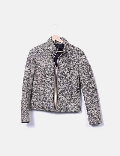 Quilted animal print jacket NoName