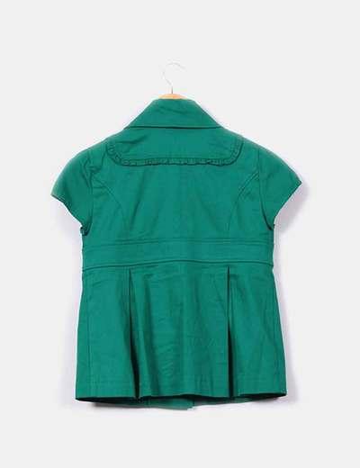 Blazer manga corta verde intenso