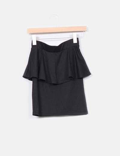 Mini falda peplum  Bershka